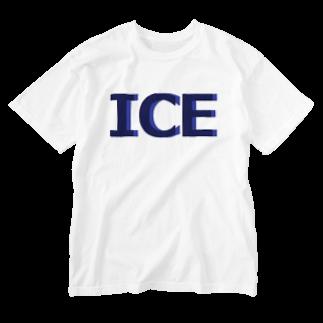 アメリカンベースのアイス Washed T-shirts