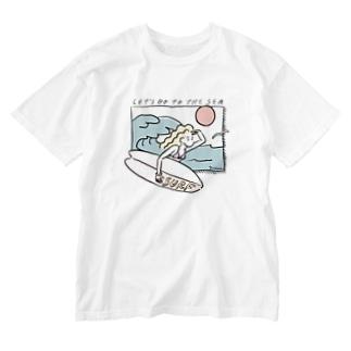 海へ行こう(裸眼編) Washed T-shirts