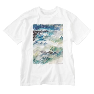 山に雨 Washed T-shirts