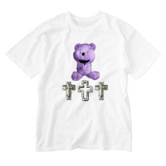 Peek-a-boo CROSS Teddy BLUEBERRY Washed T-shirts