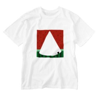スイカねこ Washed T-shirts