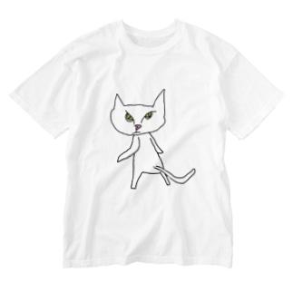 銀の助(振り向き) Washed T-shirts