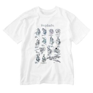 ミジンコ図鑑 Washed T-shirts
