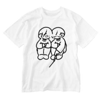 ふたり Washed T-shirts