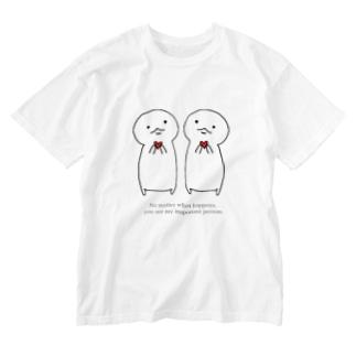 古春一生(Koharu Issey)のなにがあっても……。 Washed T-Shirt