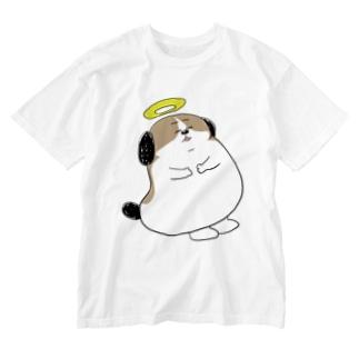 もじゃまる昇天 Washed T-shirts
