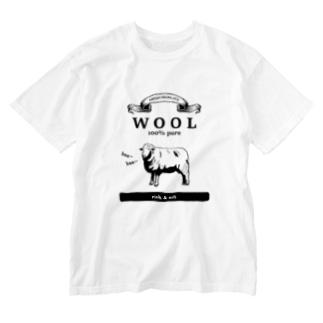 ウール100% Washed T-shirts