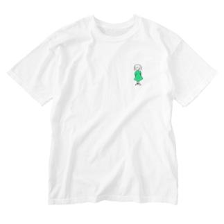 ワンピースの子 Washed T-shirts