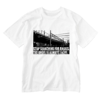 The Angel is always there ~ Revelation of passing Washed T-shirts