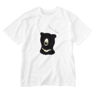 ツキノワグマ Washed T-shirts