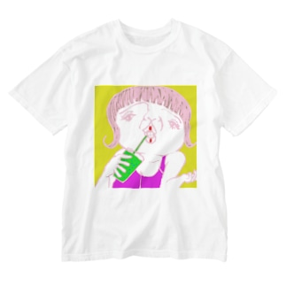 美肌の秘訣 Washed T-shirts