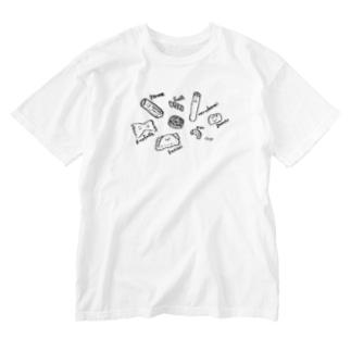 まかろにーず(小、裏ロゴなし) Washed T-shirts