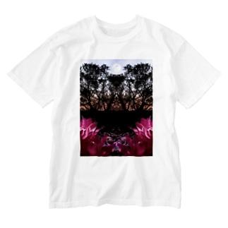 孤高の月 Washed T-shirts
