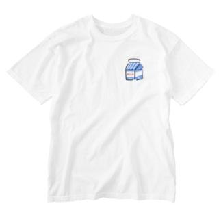 ぎゅにゅたっぷり Washed T-shirts