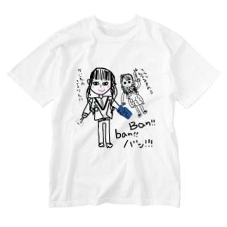 海援降臨Tシャツ 降臨リュウwith龍馬  Washed T-shirts