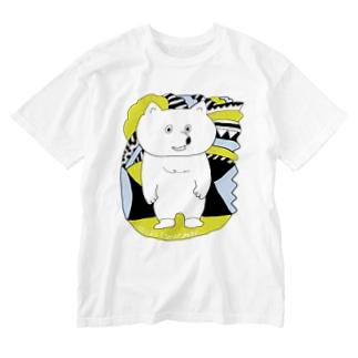 にぎやかなくま Washed T-shirts
