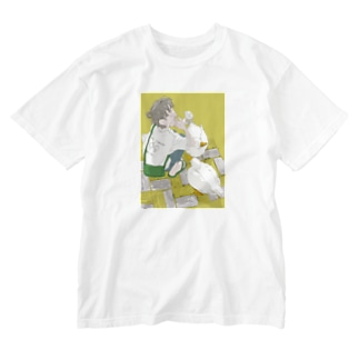 アヒルとソフトクリーム Washed T-shirts