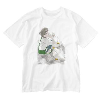 アヒルとソフトクリーム その2 Washed T-shirts