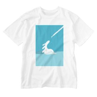 Liquid_ミズール Washed T-shirts