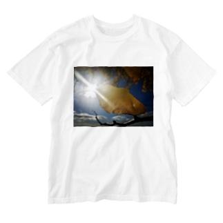 イチョウ Washed T-shirts