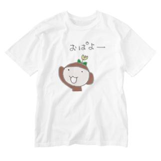 ミホンザル(ウキッ) Washed T-shirts