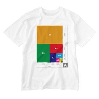 【A判】用紙サイズ表 Washed T-shirts