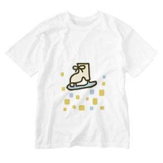 キラキラスケート靴 Washed T-shirts