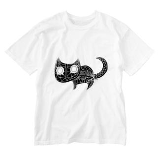 ソニカ_ねこ Washed T-shirts