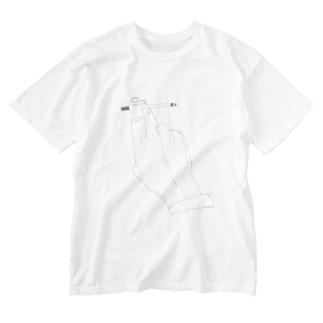 タバコ Washed T-shirts