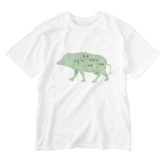 ジビエを語ろう Washed T-shirts