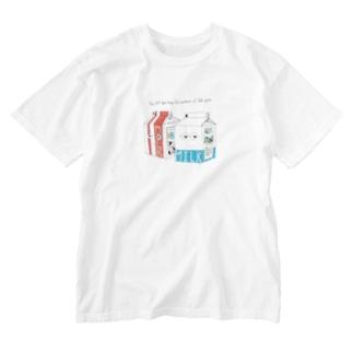 牛乳パック Washed T-shirts