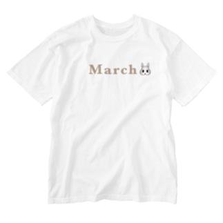 うさぎ Washed T-shirts