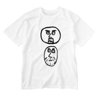 ひげじいさんず Washed T-shirts
