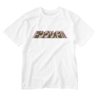 ドングリFMのお店のドングリFM 公式Tシャツ(レトロ 桃×緑) Washed T-shirts