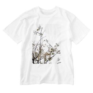 leafFLOWER Washed T-shirts