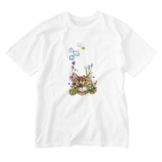 花咲かCAT Washed T-shirts