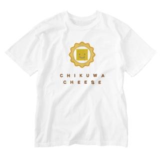 ちくわチーズ Washed T-shirts