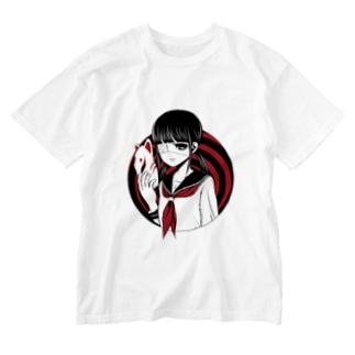 朝神さつきちゃんグッズ Washed T-shirts