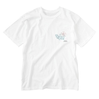 ひこうき Washed T-shirts