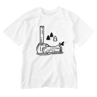 愛斧マサカリ Washed T-shirts