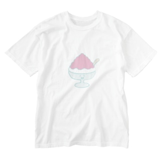 いちごのかき氷くん Washed T-shirts