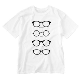 メガネT Washed T-shirts