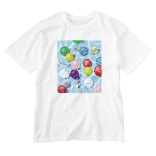 夏を浮かべる Washed T-shirts