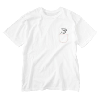 ひょっこりパグさん(あか)/チャリティー Washed T-shirts