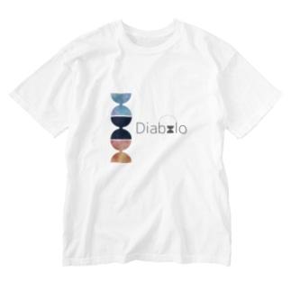 水彩混色「Diabolo」 Washed T-shirts