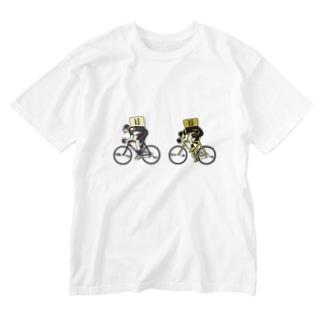 Uber Eats競輪 Washed T-shirts