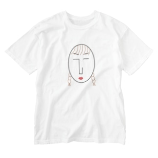the face様 (顔) Washed T-shirts