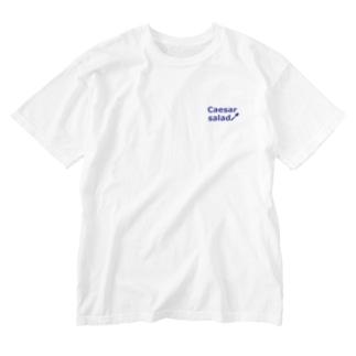 シーザーサラダ Washed T-shirts
