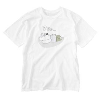 ガモさんのおやすみクマさん Washed T-shirts