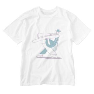 トロンボーンマン Washed T-shirts